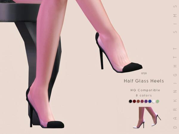 The Sims Resource: Half Glass Heels by DarkNighTt