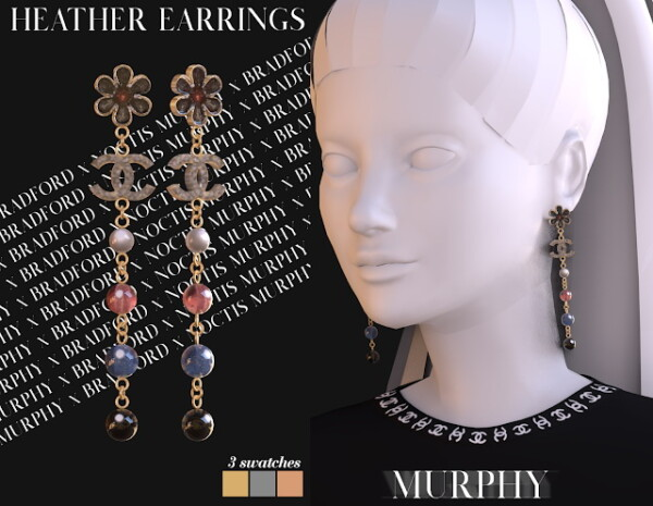 Murphy: Heather Earrings