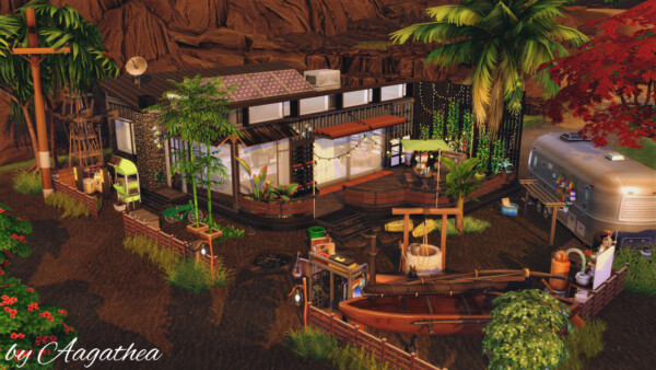 Agathea k: Hut under Volcano