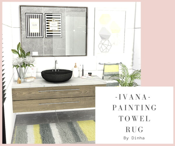 Dinha Gamer: Ivana Collection Painting, Rug and Towel