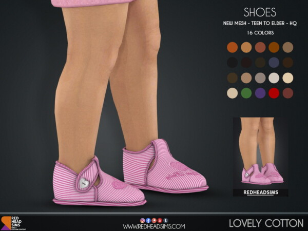 Red Head Sims: Lovely Cotton Shoes