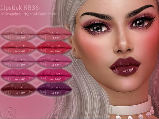 MSQ Sims: Lipstick NB36