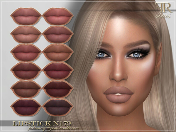 The Sims Resource: Lipstick N179 by FashionRoyaltySims