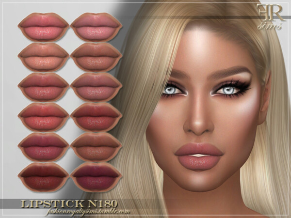 The Sims Resource: Lipstick N180 by FashionRoyaltySims