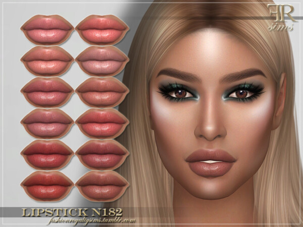 The Sims Resource: Lipstick N182 by FashionRoyaltySims