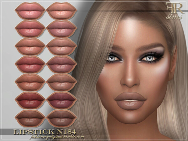 The Sims Resource: Lipstick N184 by FashionRoyaltySims