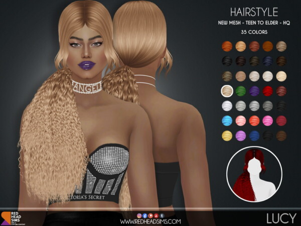 Red Head Sims: Lucy Hairstyle