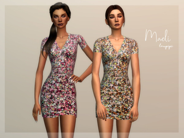The Sims Resource: Maeli Dress by Laupipi