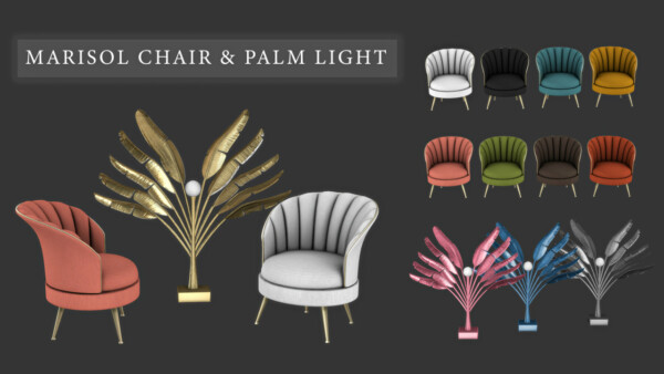 Leo 4 Sims: Marisol Chair and Palm Lights