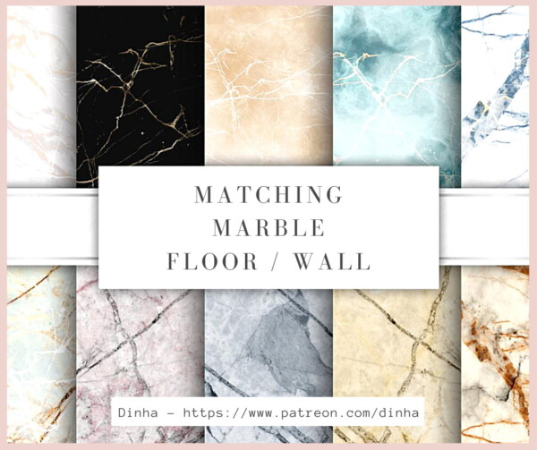 Dinha Gamer: Matching Marble Floor and Wall  10 Textures