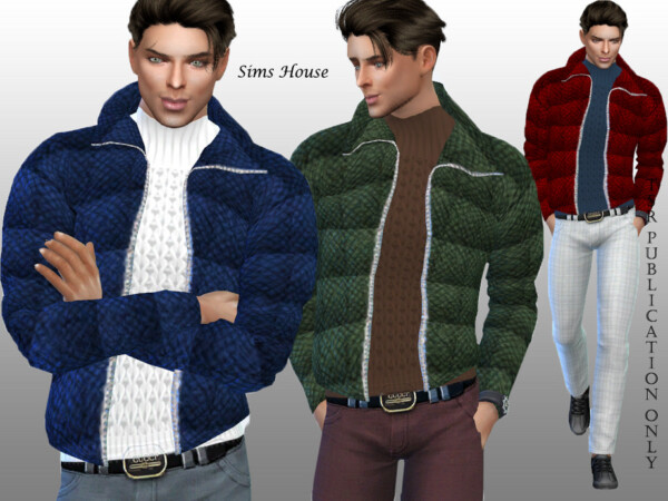 The Sims Resource: Mens open jacket with sweater by RAVASHEEN