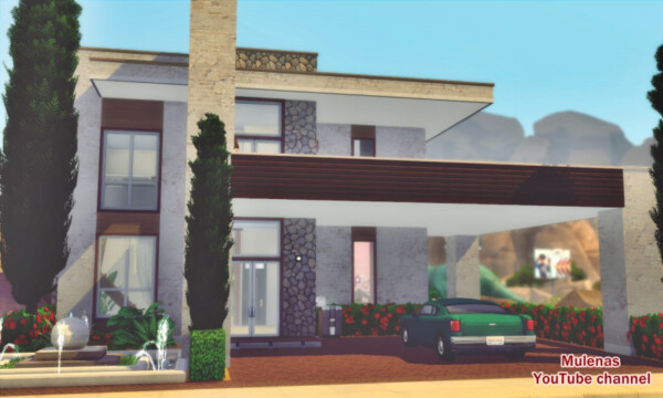 Sims 3 by Mulena: Modern Eco House