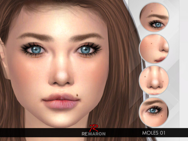 The Sims Resource: Moles 01 for both gender by remaron