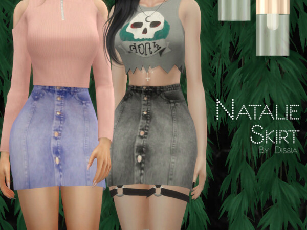 The Sims Resource: Natalie Skirt by Dissia