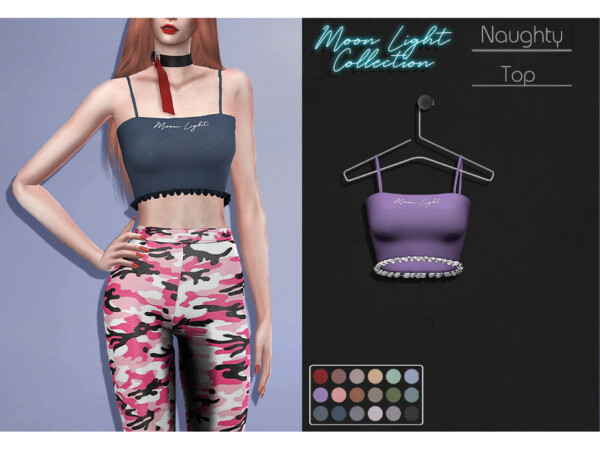 The Sims Resource: Naughty Top by Lisaminicatsims