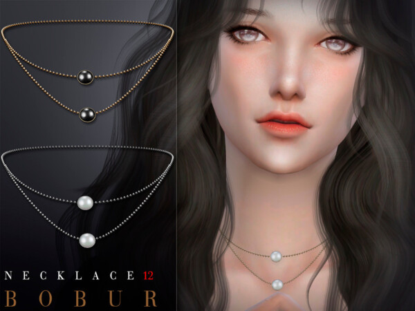The Sims Resource: Necklace 12 by Bobur