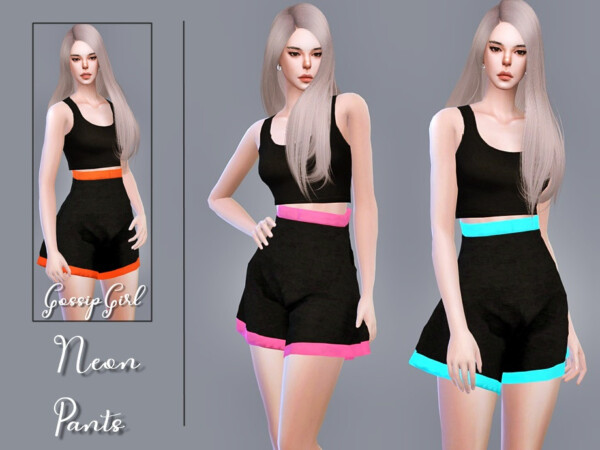 The Sims Resource: Neon Pants by GossipGirl S4