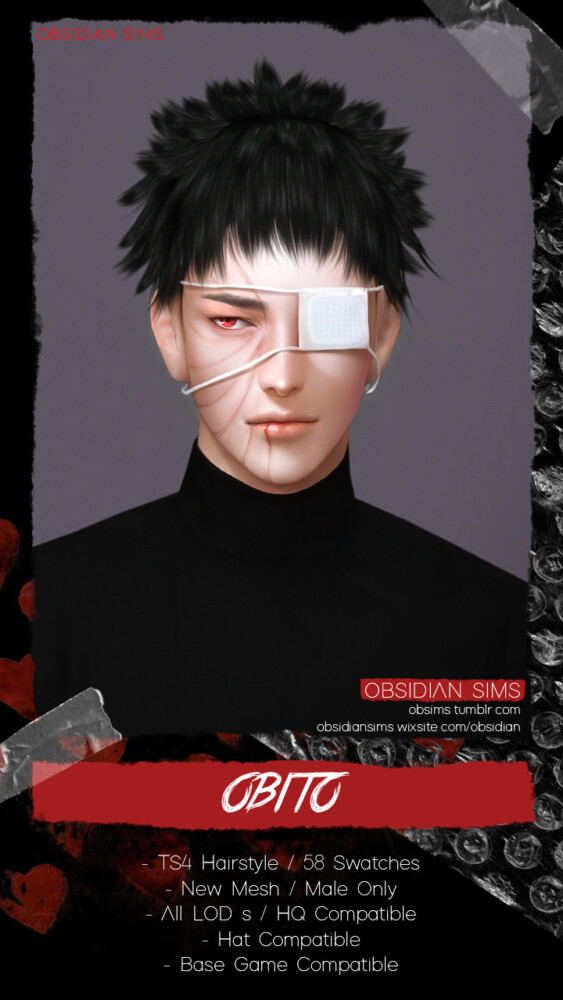 Obito Hair from Obsidian Sims