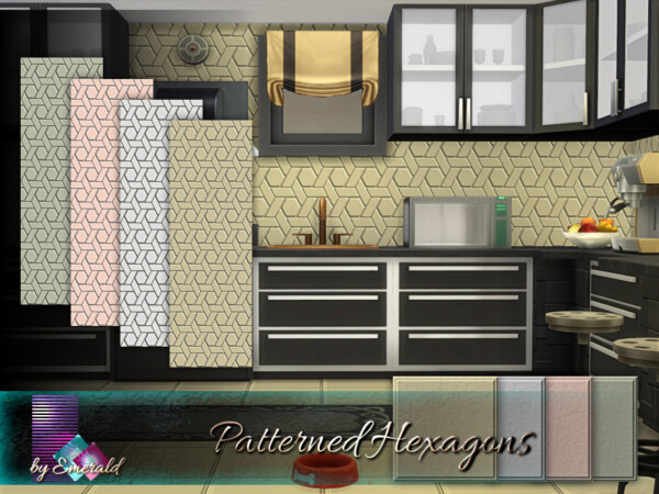 Patterned Hexagons by emerald from TSR