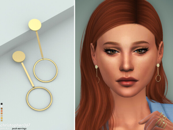 The Sims Resource: Posh Earrings by christopher067
