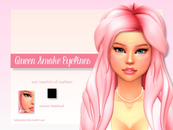 The Sims Resource: Queen Smoke Eyeliner by LadySimmer94