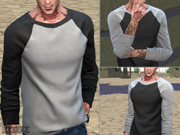 The Sims Resource: Raglan Long Sleeve T Shirt by Darte77