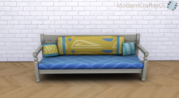 Reupholstered Mahogany sofa 3 from Modern Crafter