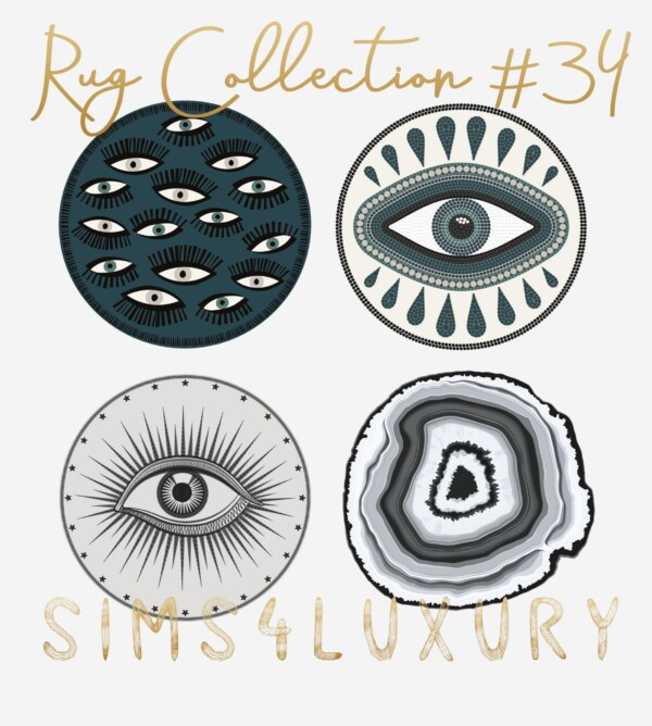 Sims4Luxury: Rug Collection 34