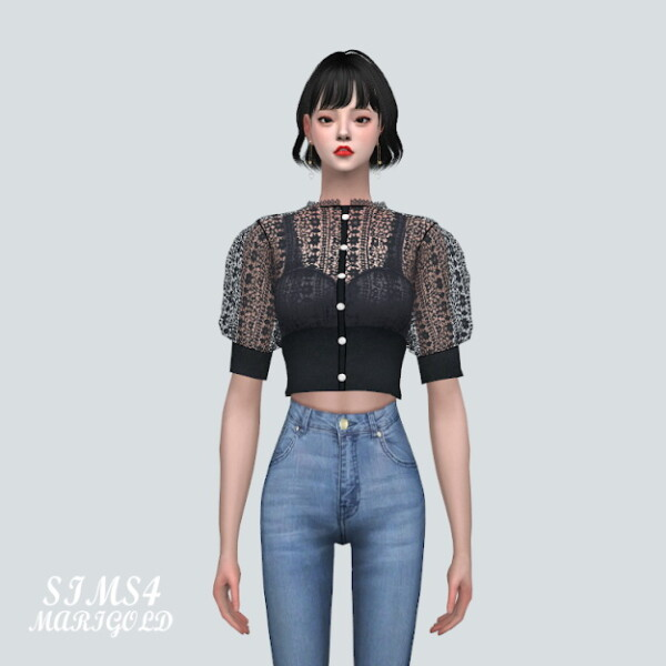 SIMS4 Marigold: S Lace Cardigan