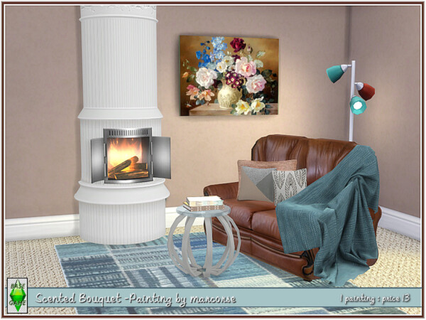 The Sims Resource: Scented Bouquet Painting by marcorse
