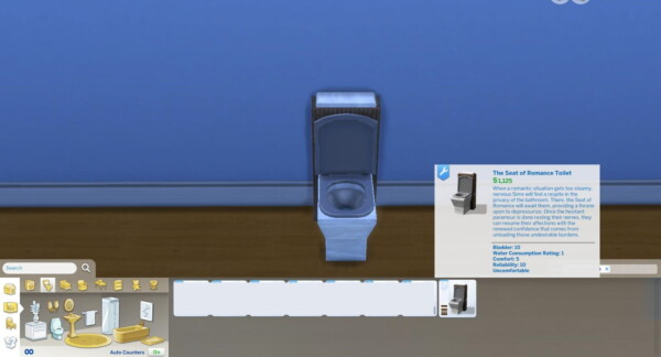 Seat of Romance and Bargain John Toilets by AdonisPluto from Mod The Sims