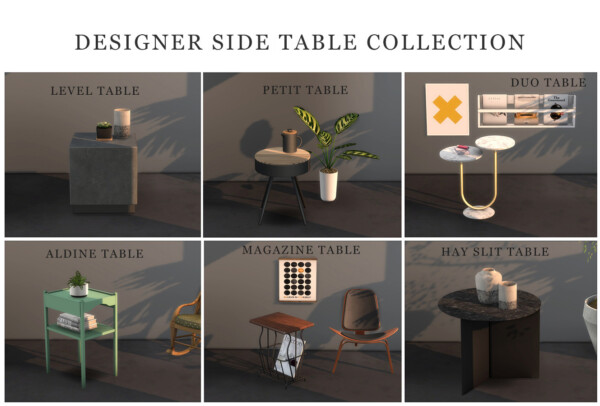 Leo 4 Sims: Side Table Collection