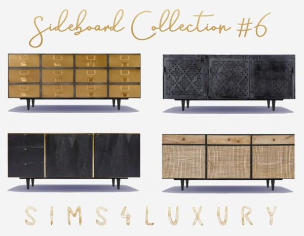 Sims4Luxury: Sideboard Collection 6