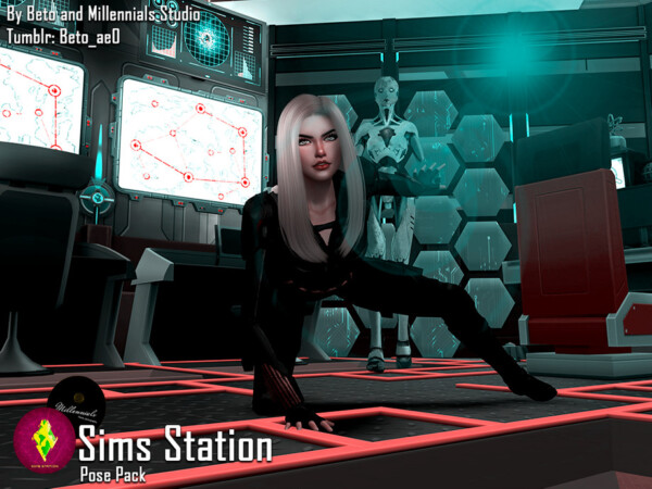 The Sims Resource: Sims Station   Pose pack by Beto ae0
