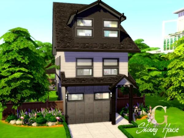 The Sims Resource: Skinny House by GenkaiHaretsu
