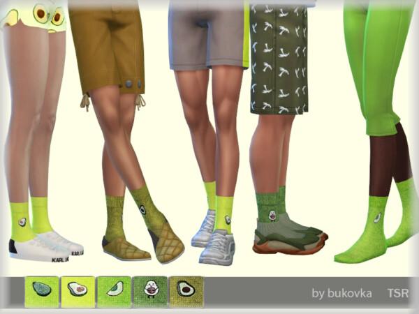 The Sims Resource: Socks Avocado by bukovka