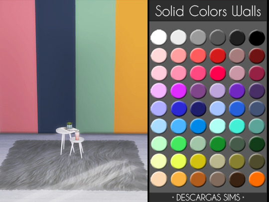 Descargas Sims: Solid Colors Walls