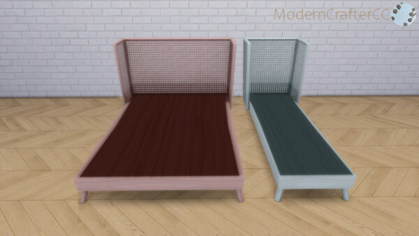 Spoiled Rattan Bed Set from Modern Crafter