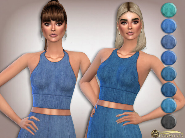Stretch denim Soft cup Bralet by Harmonia from TSR