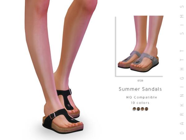 The Sims Resource: Summer Sandals by DarkNighTt