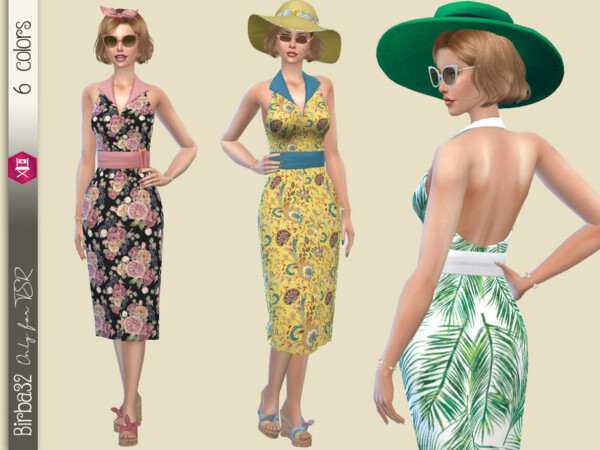 The Sims Resource: Summer floral dress by Birba32