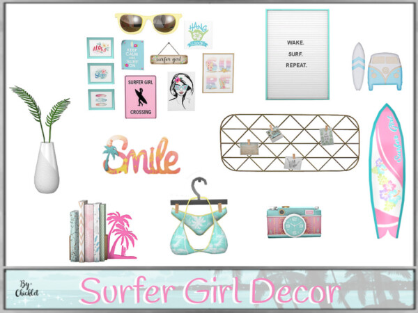 The Sims Resource: Surfer Girl Decorations by Chicklet