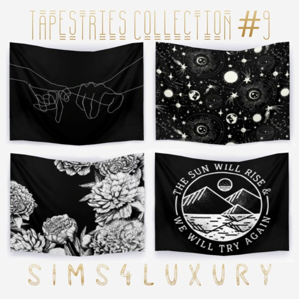 Sims4Luxury: Tapestries Collection 9