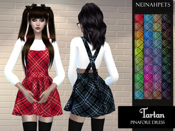 The Sims Resource: Tartan Pinafore Dress by neinahpets