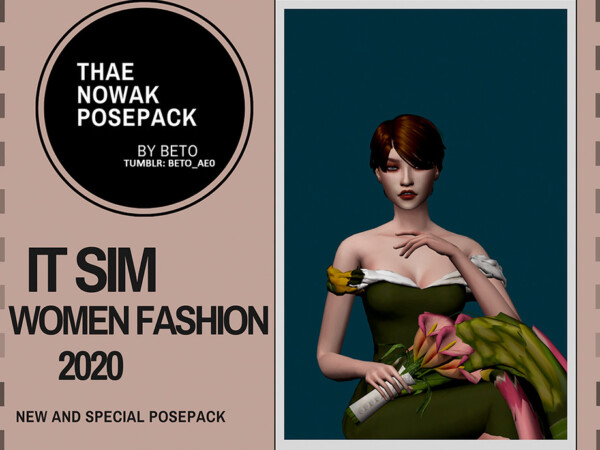 The Sims Resource: Thae Nowak   Pose Pack by Beto ae0