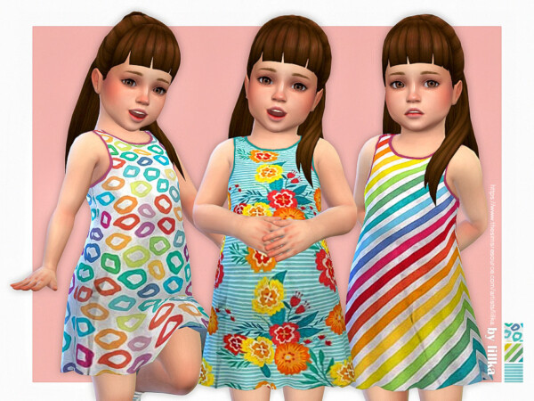 The Sims Resource: Toddler Dresses Collection P150 by lillka