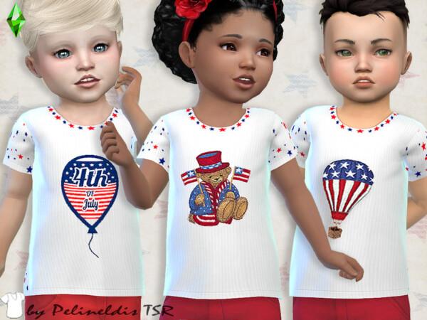 The Sims Resource: Toddler Patriotic Tee by Pelineldis