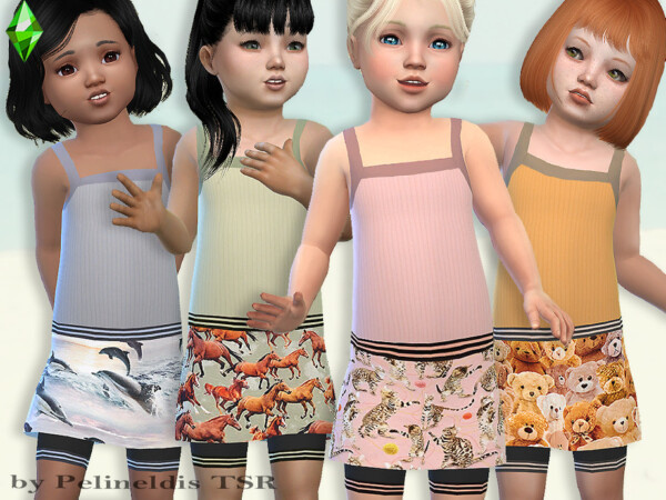 The Sims Resource: Toddler Short and Tank Top Set by Pelineldis