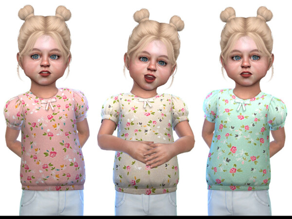 The Sims Resource: Top for Toddler Girls 01 by Little Things