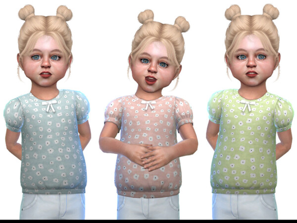 The Sims Resource: Top for Toddler Girls 02 by Little Things